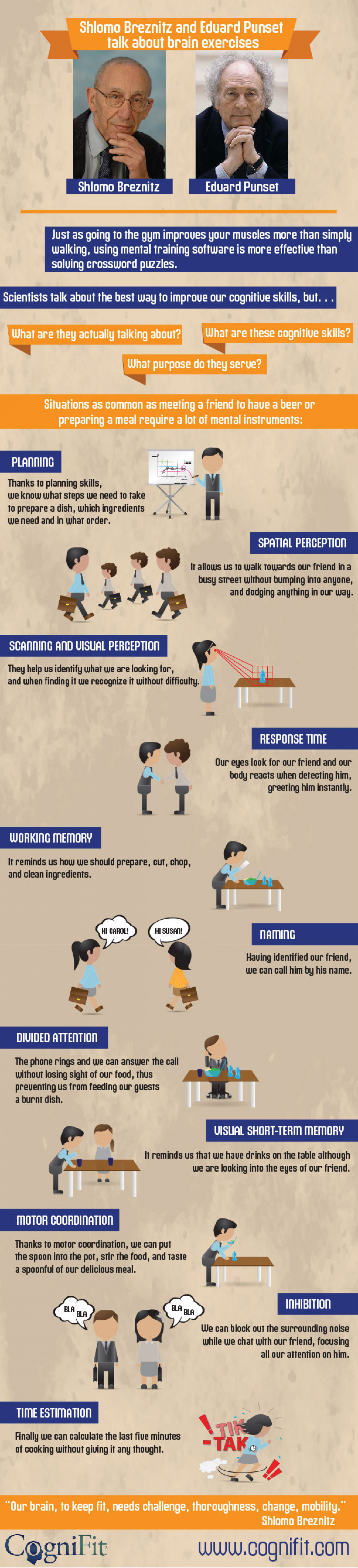 Cognitive skills Infographic