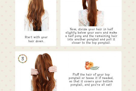 Infographic: Add Volume and Length to Your Ponytail Infographic