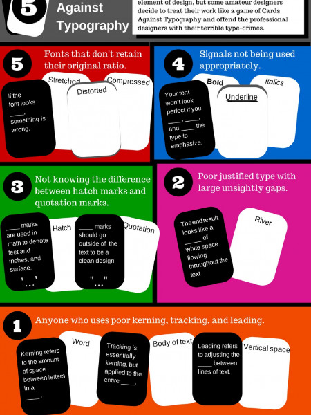 [INFOGRAPHIC]: Cards Against Typography Infographic