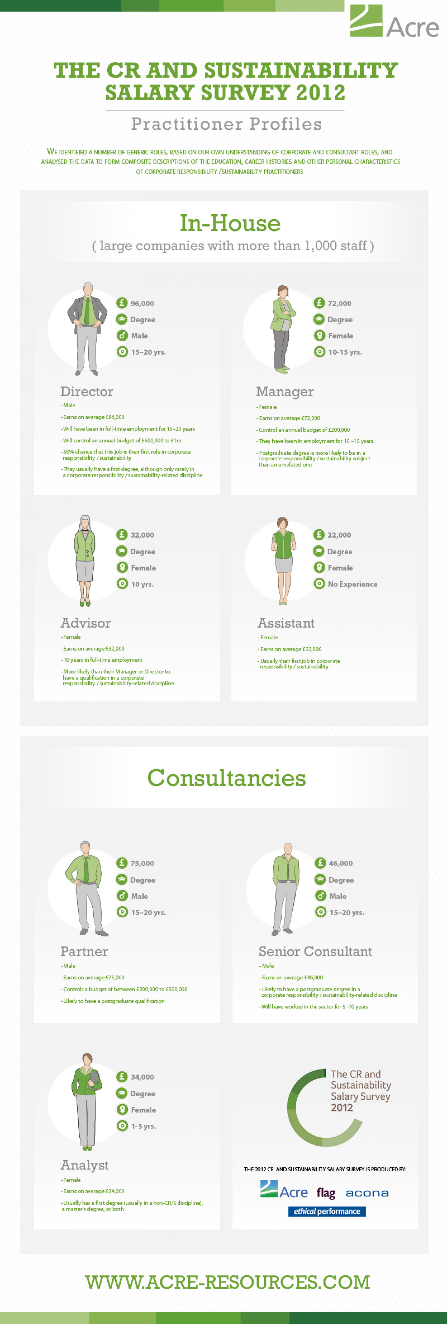 Corporate Responsibility & Sustainability Practitioner Profiles Infographic