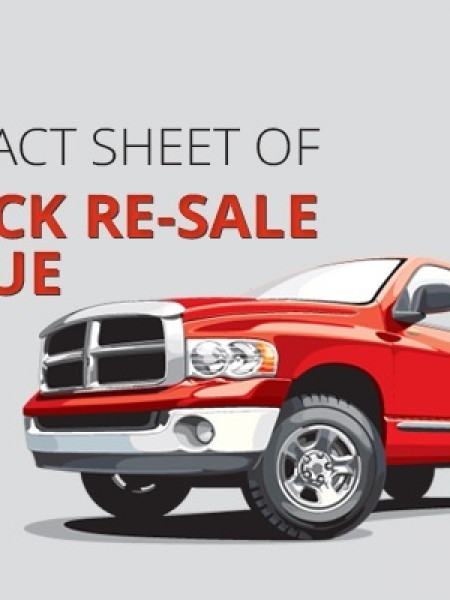 Infographic on Pickup Truck Resale Value Infographic