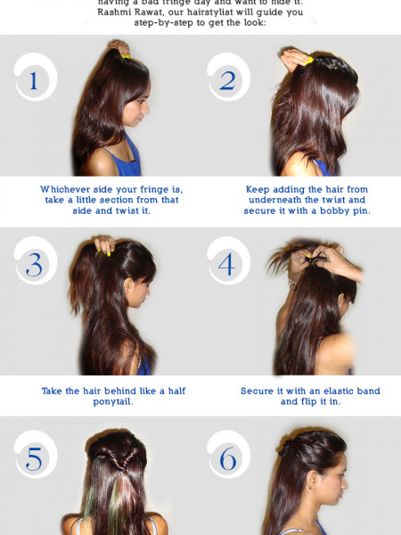 Ponytail with Twists Infographic