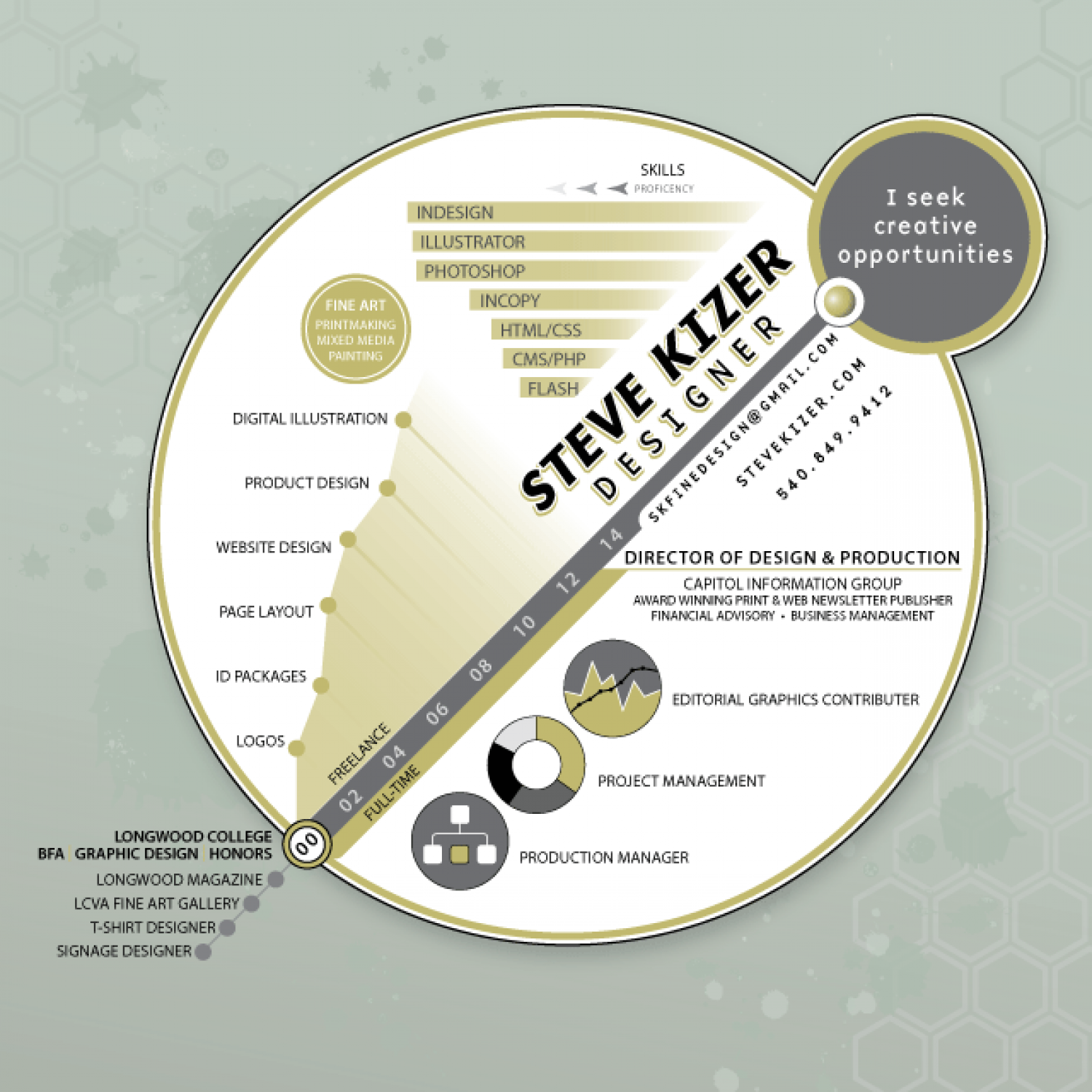 Infographic Resume for Steve Kizer Infographic