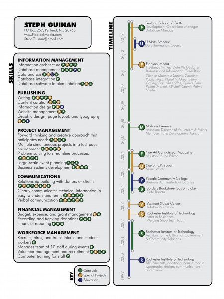 resume timeline infographic