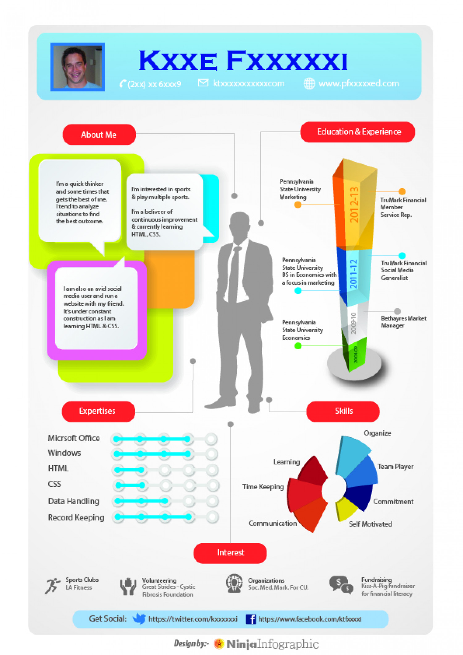 Resume Infographic the l progression Infographic Resume Infographic