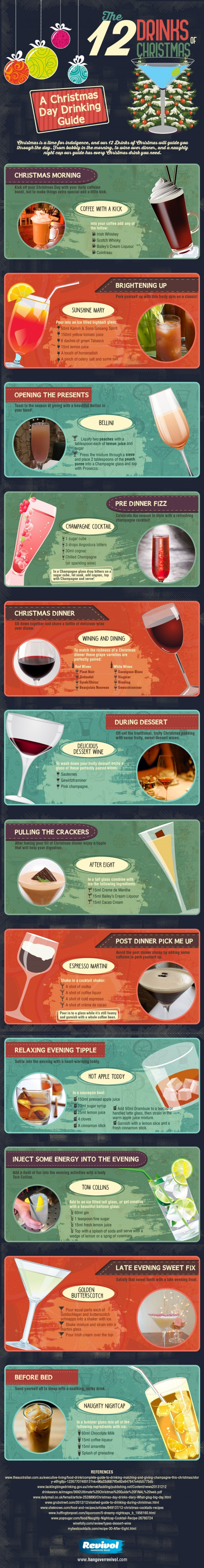 [INFOGRAPHIC] �The 12 Drinks of Christmas � A holiday drinking guide�