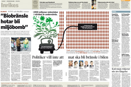 Infographics departments of the world: Hufvudstadsbladet (Helsinki, Finland) Infographic