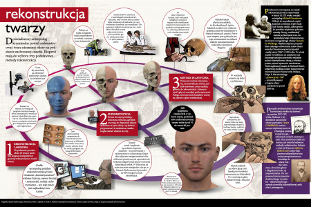 Face reconstruction Infographic