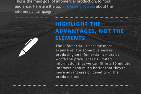 Infomercial Campaign Secrets Infographic