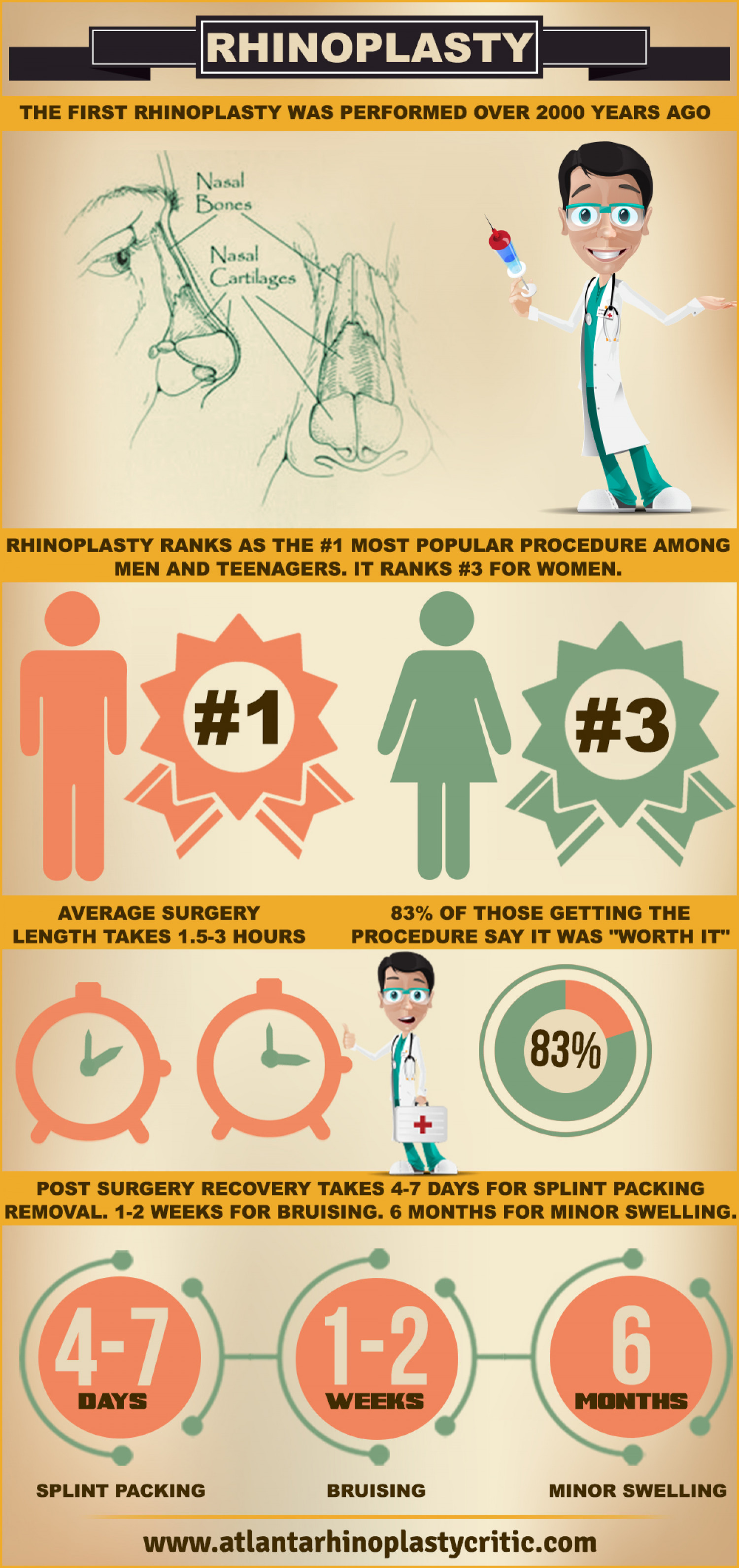 Information Graphic about Rhinoplasty in Atlanta Infographic