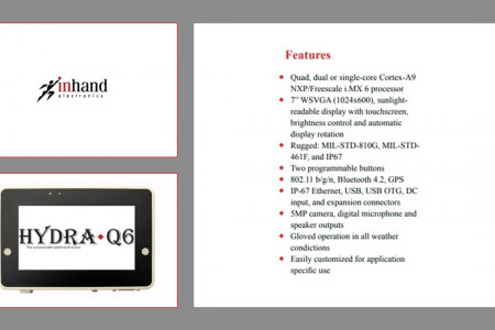 InHand Hydra-Q6 - Rugged Android Tablet for Commercial and Industrial Use Infographic