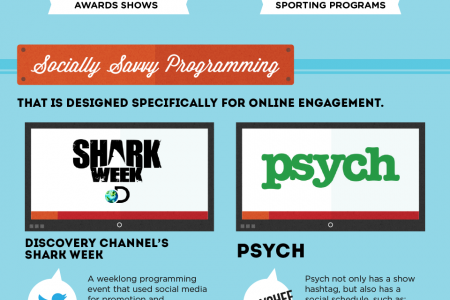 Insights From Nielson's Social TV Data Infographic
