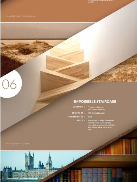 Inspirational Staircase Designs Infographic