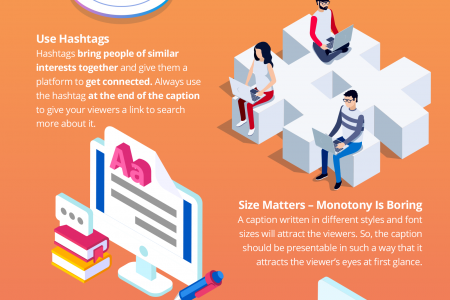 Instagram Captions - Grow Your Instagram Followers with Best Tricks Infographic