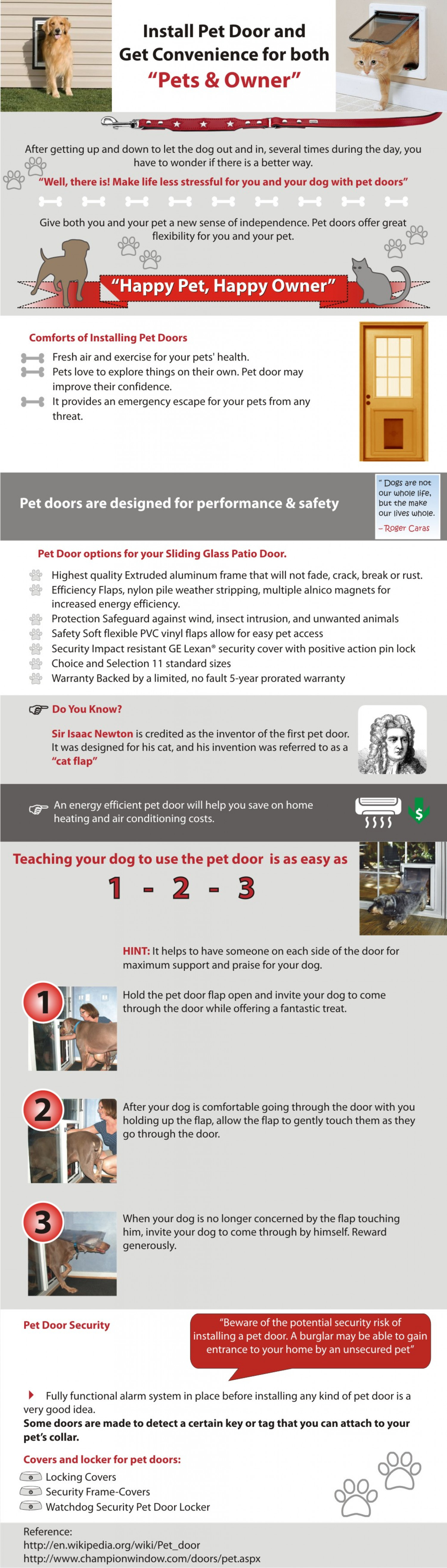 "Install Pet Door and Get Convenience for Both ""Pets & Owner"" Infographic"