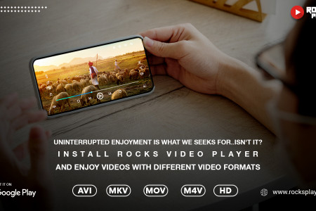 Install Rocks video player and enjoy with different video formats Infographic