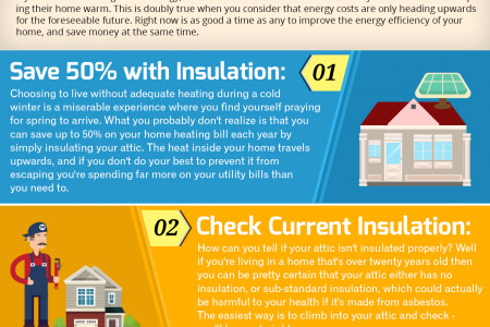 Insulating an Attic for Energy Savings Infographic