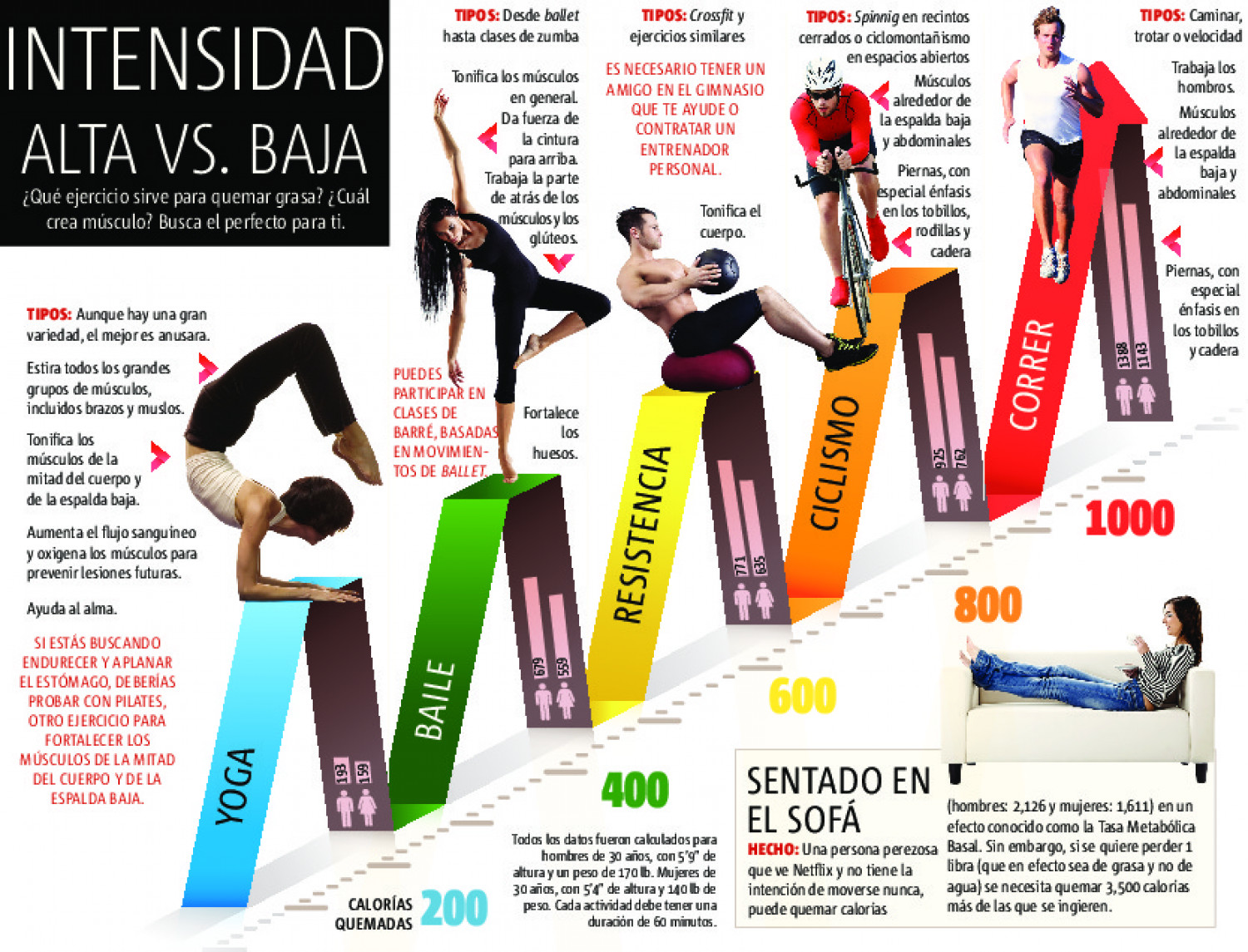 INTENSIDAD ALTA VS. BAJA Infographic