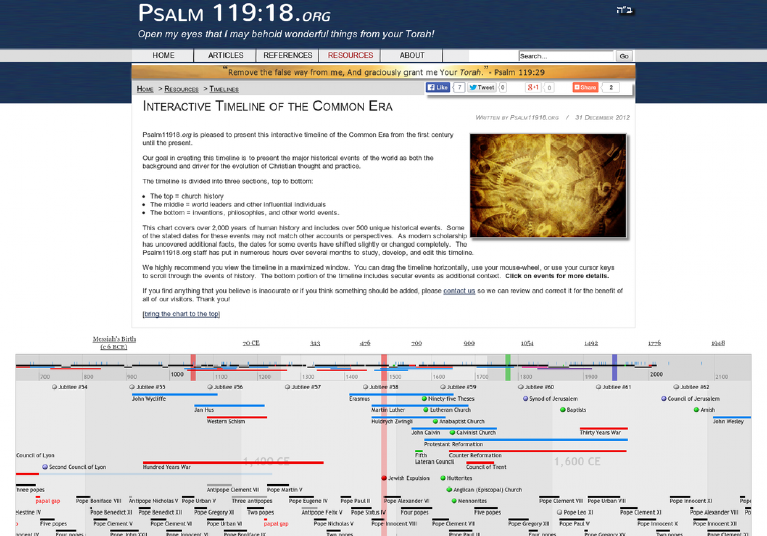 Interactive Timeline of the Common Era Infographic