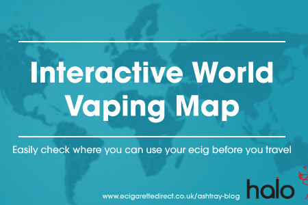 Interactive World Vaping Map for Ecigarette Users Infographic