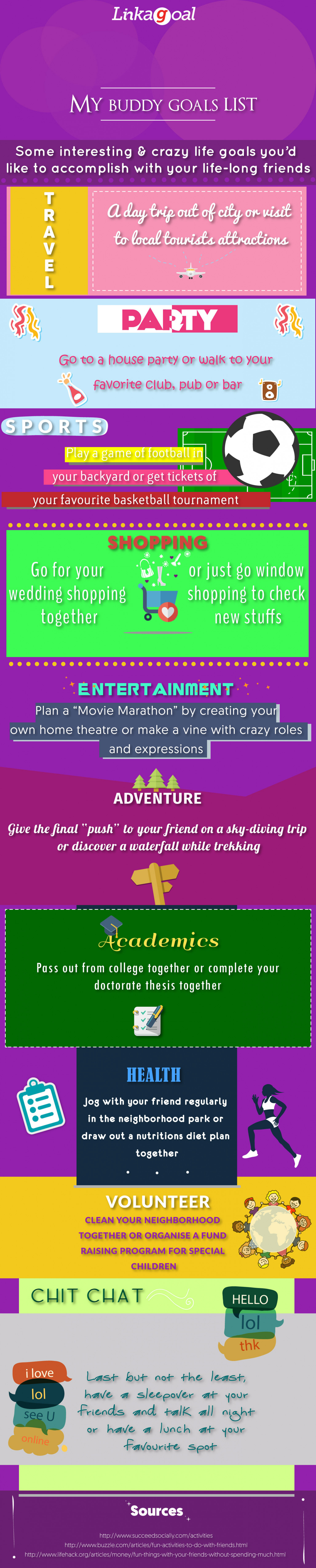 Interesting and Crazy Life Goals! Infographic