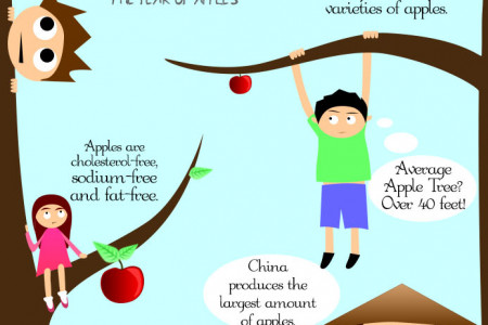 Interesting Facts About Apples Infographic