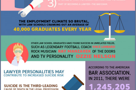 Interesting Facts About Lawyers Infographic