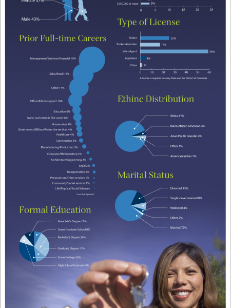 Interesting Facts and Statistics About Real Estate Agents Infographic