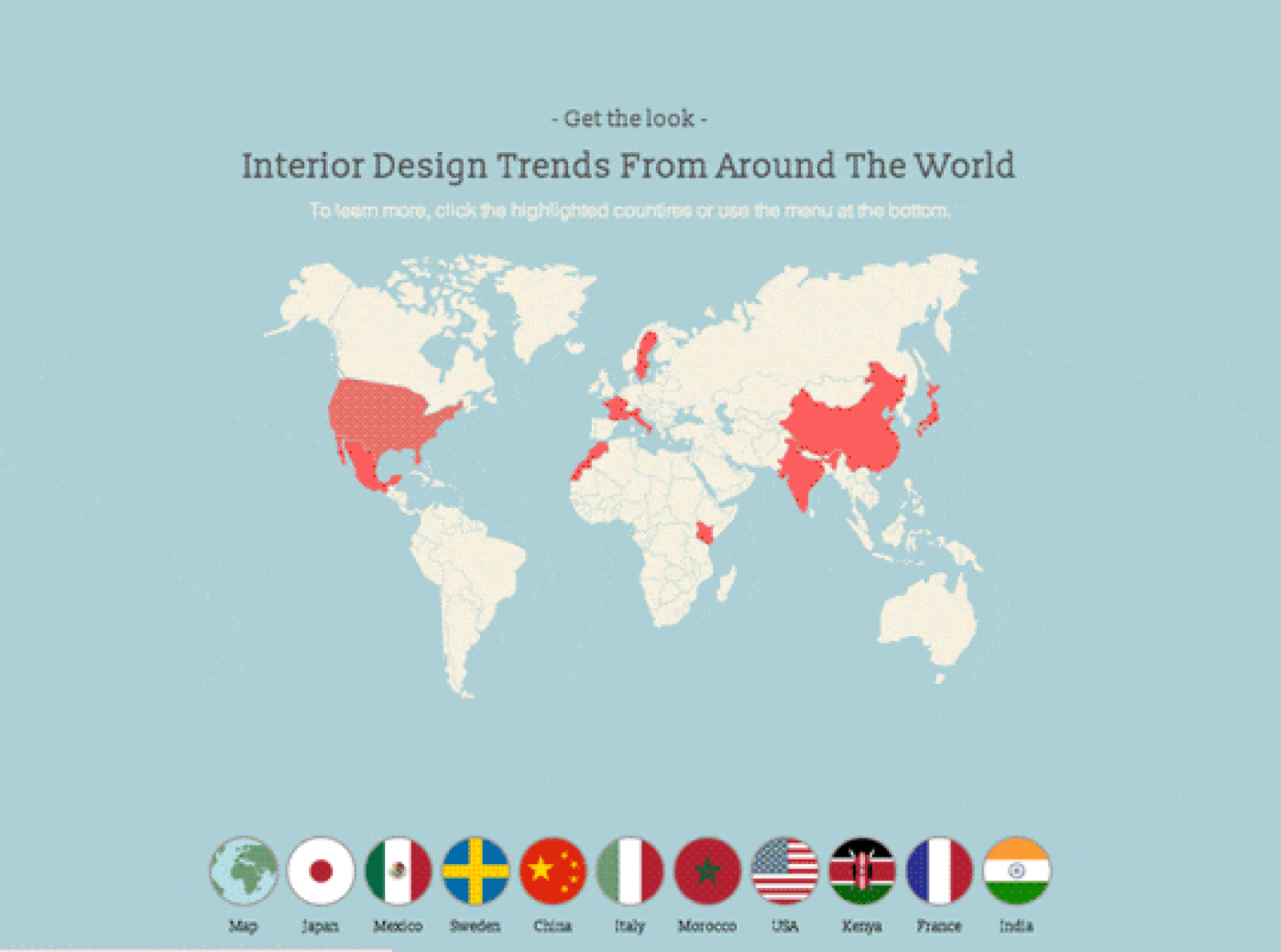 Interior Design Trends From Around The World Infographic