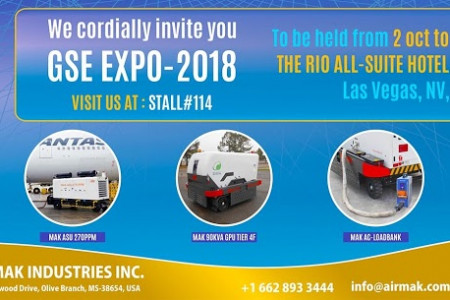 International Airport GSE Expo 2018 Infographic