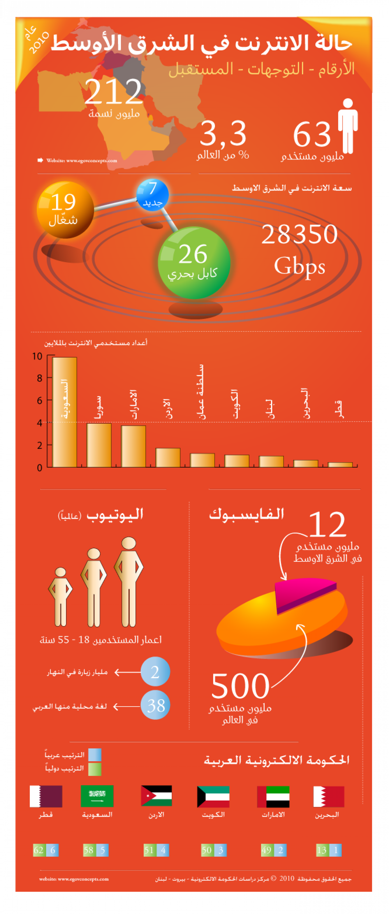 Internet in The Middle East Infographic
