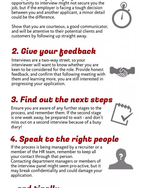 Interviews: How to Follow Up Infographic