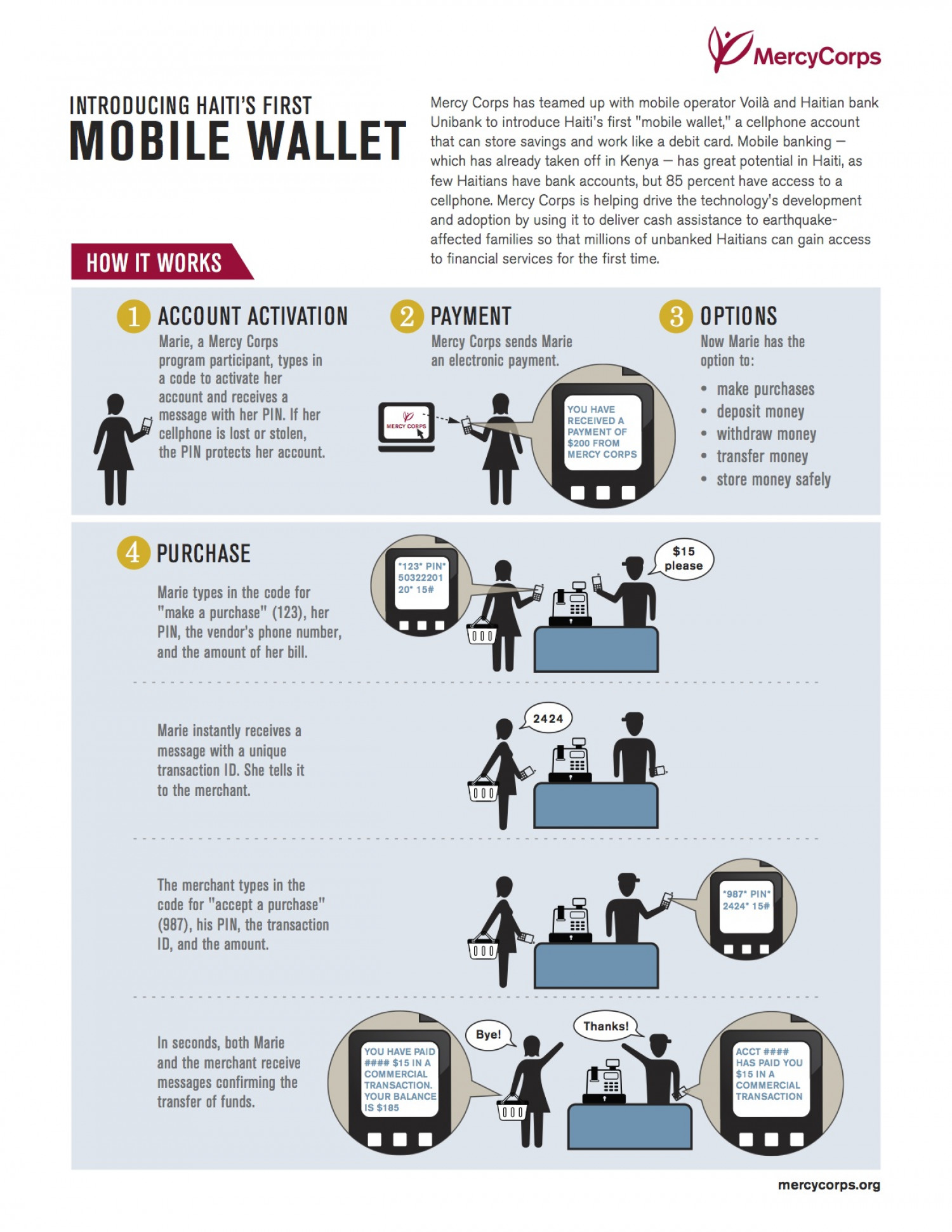Introducing Haiti's First Mobile Wallet Infographic