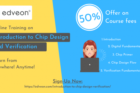 Introduction to Chip Design and Verification Online Course Infographic