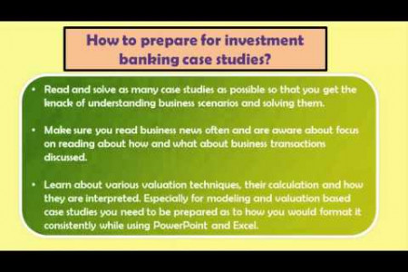 Investment Banking case studies Infographic