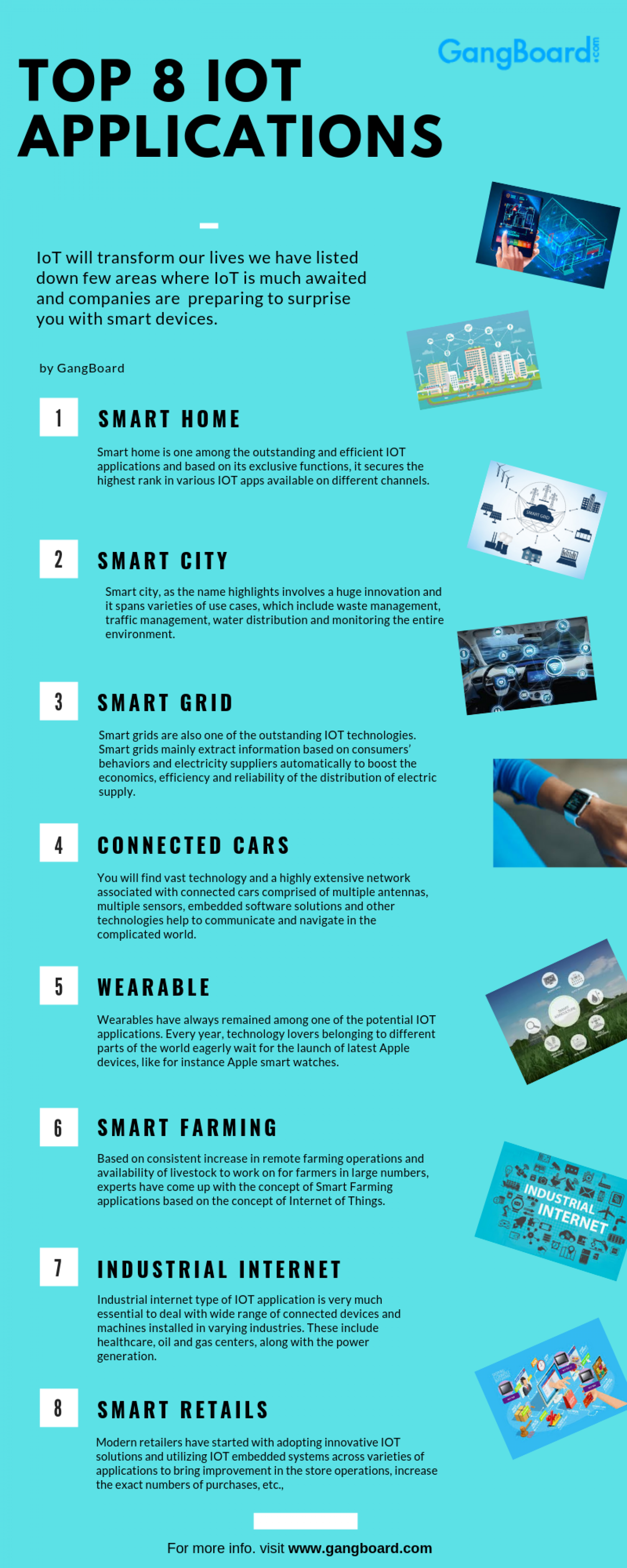 IoT Applications Infographic