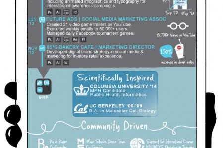 iPad Resume Infographic