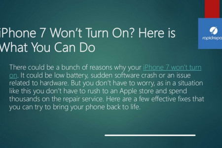 iPhone 7 wont turn on here is what you can do Infographic