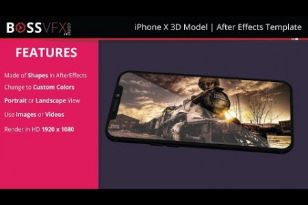 iPhone x 3D Model After Effects Template  Infographic