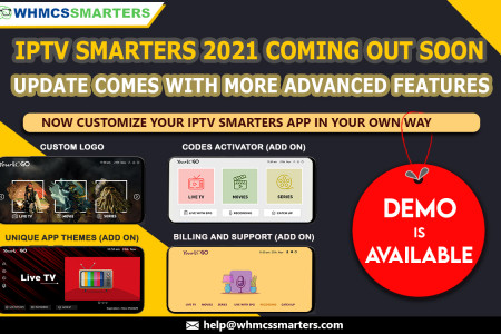 IPTV Smarters Pro 2021 is Coming Out Soon Infographic