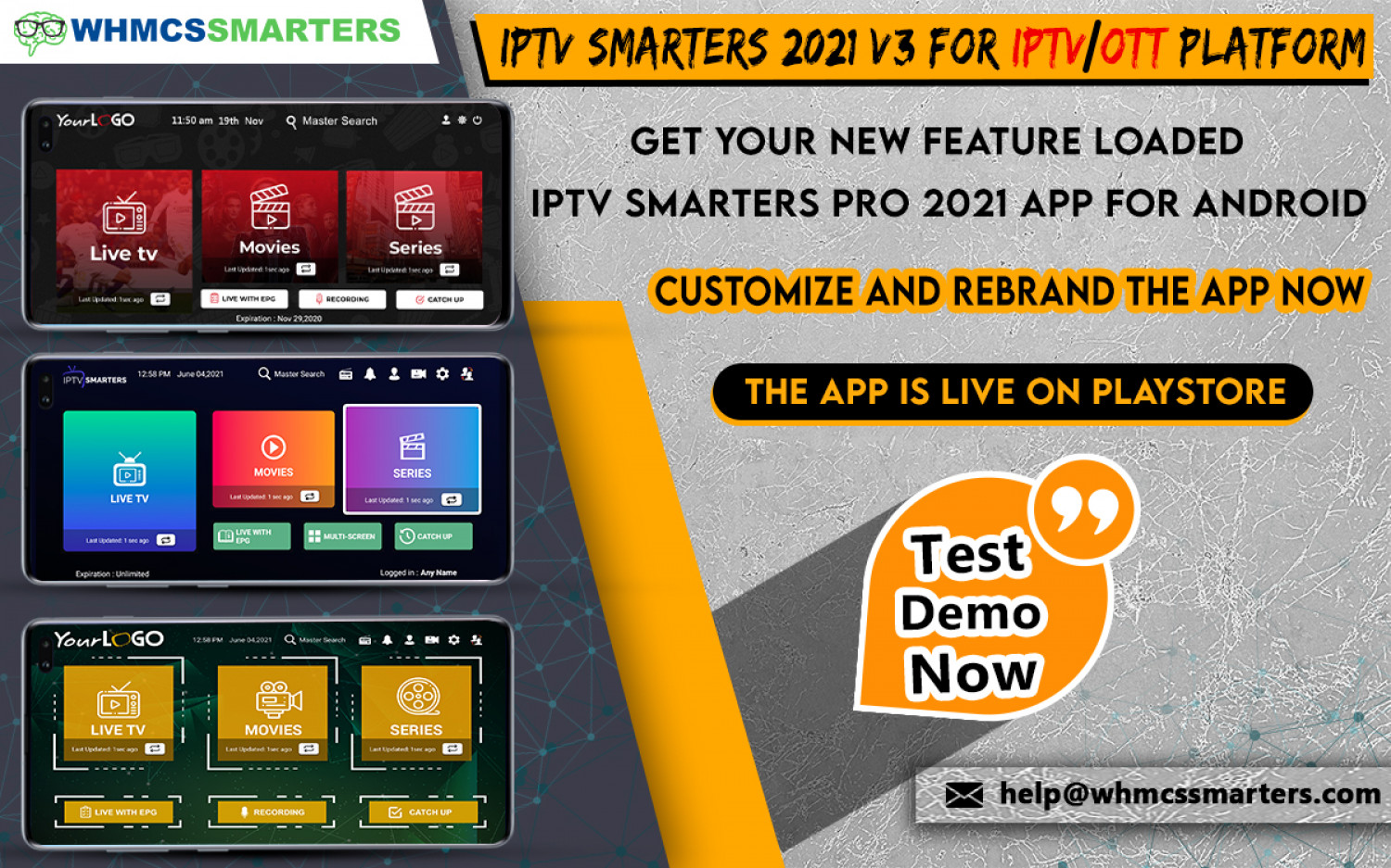 IPTV SMARTERS PRO 2021 V3.0 LAUNCHED WITH NEW AMAZING FEATURES & IMPROVEMENTS Infographic
