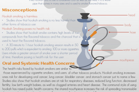 Is Hookah Smoking as Dangerous as the Conventional Cigarette? Infographic