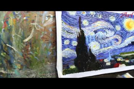 Is it Really Hand Painted? See How we Create a Hand Painted Van Gogh Starry Night! Infographic