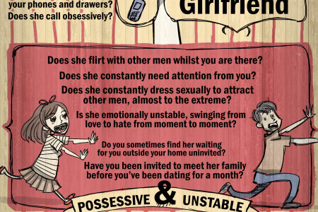 Is She Psycho Infographic - Ever Wondered If Your Girlfriend Was A Bit Psycho? Check Out This Fun Infographic Infographic
