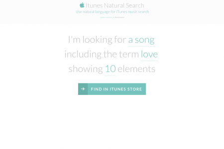 iTunes Natural Search Infographic