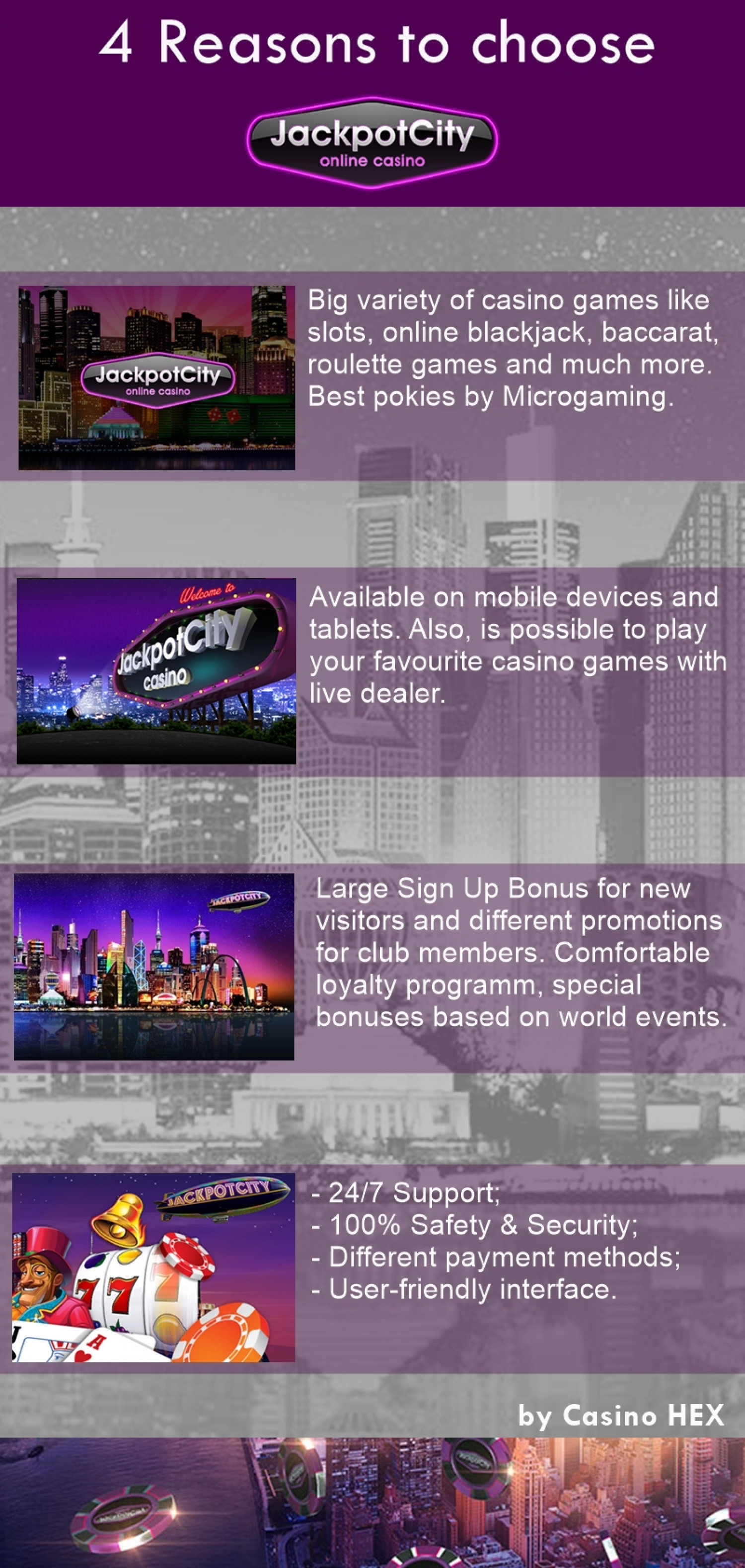 Jackpot City Review Infographic
