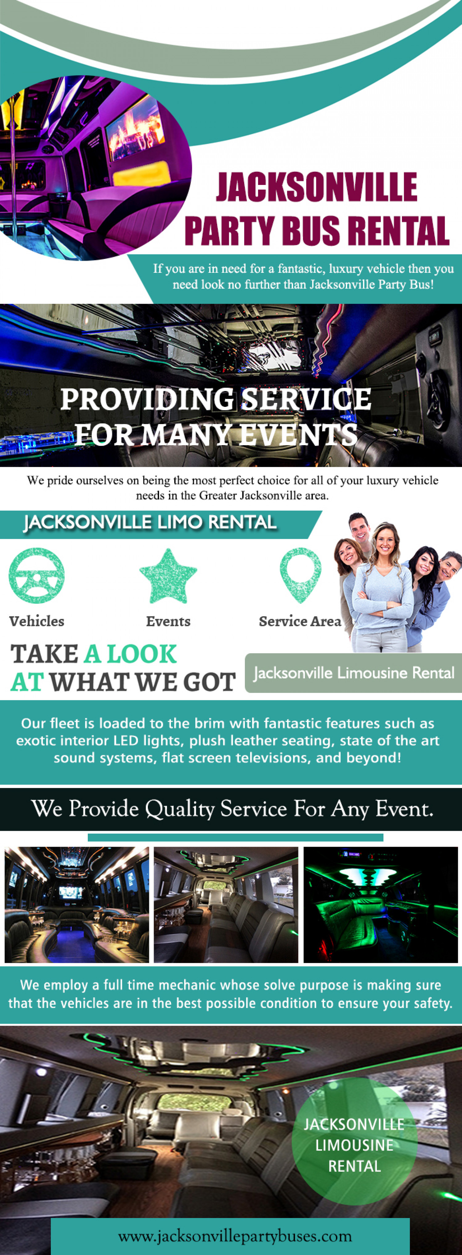 Jacksonville Limo Rental | Call (904) 601-0904 Infographic