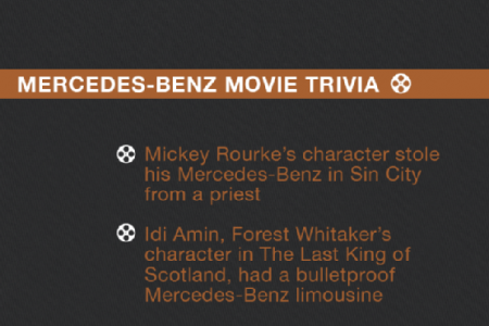 Jaguar and Mercedes-Benz Immortalized In Film Infographic