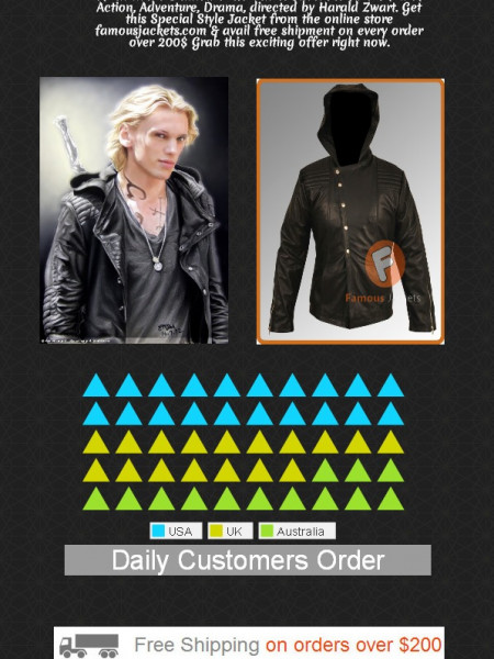 Jamie Campbell Bower Black Jacket Infographic