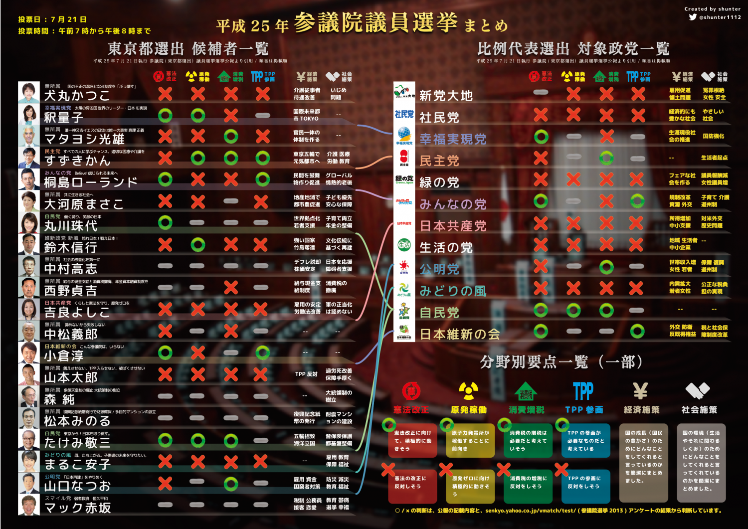 Japanese Upper House Election's Candidates Infographic